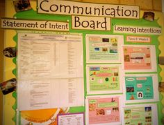 Year 2 Parent Communication Board at Frederick Irwin Anglican School (WA)...Walker Learning Approach: Personalised Learning ≈≈
