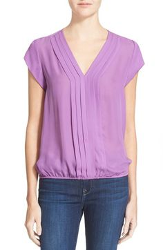 Women's Joie 'Marcher' Pleated Silk Top