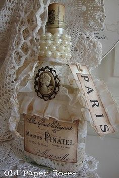 altered bottles with fairy inside | Altered Bottles