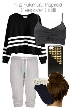 """""""Teen Wolf - Kira Yukimura Inspired Sleepover Outfit"""" by staystronng ❤ liked on Polyvore featuring Forever 21, Steve Madden and Oasis"""