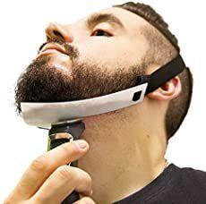Aberlite Beard Shaper - FlexShaper Neckline Guide - Hands-Free & Flexible - The Ultimate Neckline Beard Shaping Template - Beard Trimmer Tool - Lineup Stencil Kit (White) Beard Trimming Guide, Beard Trimming Styles, Hair And Beard Styles, Short Beard Styles, Beard Fade, Beard Look, Stubble Beard, Full Beard, Neckline Guide