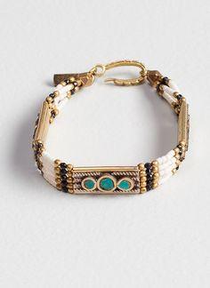 Moon Shield Bracelet #boho #festival #turquoise