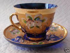 "1950 Murano Demitasse ""Cup Saucer Set"""