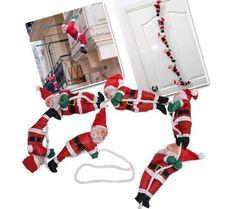 İple Bacaya Ve Cama Tırmanan Noel Babalar :: Zinde Market 4th Of July Wreath, Marketing, Decor, Noel, Dekoration, Decoration