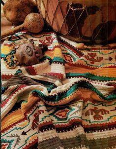 Indian Blanket Afghan crochet pattern for sale