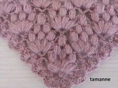 YENİ FISTIK ÖRNEKLİ ŞAL MODELİ YAPIMI | Nazarca.com Crochet Baby Shawl, Crochet Motifs, Crochet Stitches Patterns, Crochet Scarves, Irish Crochet, Knitting Stitches, Crochet Designs, Crochet Doilies, Baby Knitting