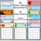 Use these awesome monthly reward charts to motivate your students. Use them for good behavior, helping others, homework completion, doing chores, practicing piano, brushing teeth - whatever you can think of! In school, the charts can be taped on or inside students' desks. At home, stick them on a refrigerator or a bathroom mirror. There are 4 on a sheet.  Use a rubber stamp, stickers, write your initials or draw a happy face in the squares when a student earns recognition. $3.00