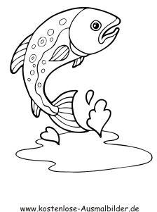 Ausmalbild Fisch 6 Ausdrucken Ausmalbilder Fische Ausmalen Ausmalbilder