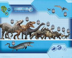Jurassic World - Size Chart - Official Mini Poster. Official Merchandise. FREE SHIPPING