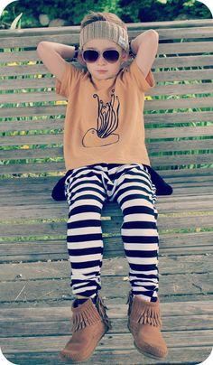 Gro octopus tee - Little Z Kids pants - Duke of London headband - Minnetonka mocs