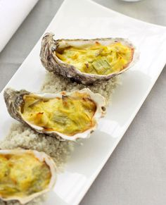 Baked Oysters Recipe With Curry and Leeks
