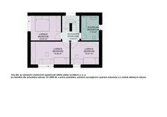 Obývací pokoj s kuchyní jsou v objektu řešeny jako jedna centrální místnost o užitné ploše 32,15 m2 jsou navíc místnostmi nejvíce prosluněnými tudíž je u nich při dodržené navržené orientace ke světovým stranám v zimních měsících možné dosáhnout největších teplotních zisků.
