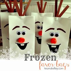 Team Skelley : Frozen Olaf Treat Bag Tutorial