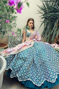 Brand new Anushree Reddy 2019 Bridal Lehengas are here. Whether you are a fan of her style or not, you are going to love her latest designs. Indian Gowns, Indian Attire, Indian Ethnic Wear, Indian Bridal Outfits, Indian Designer Outfits, Designer Ethnic Wear, Designer Dresses, Designer Kids, Indian Bridal Wear