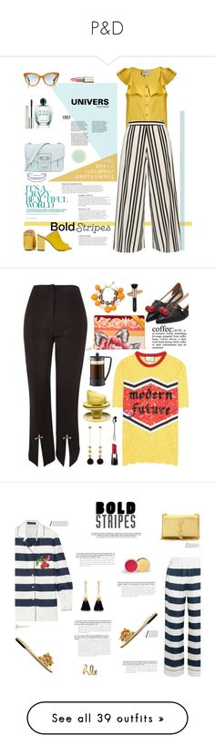 """""""P&D"""" by javieraacevedo ❤ liked on Polyvore featuring Sea, New York, Alice + Olivia, Proenza Schouler, Topshop, Catherine Malandrino, Oliver Peoples, KAROLINA, Giorgio Armani, Nails Inc. and Clinique"""