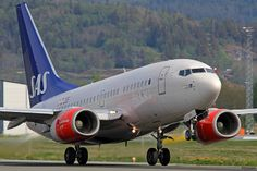 SAS Boeing 737-683 SE-DNX departing Værnes (TRD/ENVA).