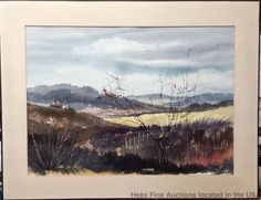 Paul F Remely Watercolor Yellow Field Bucks County New Hope Pa Painting #Impressionism