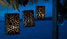 Crafty outdoor lanterns/ candle holders