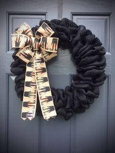 Black Burlap Wreath, Halloween Wreaths, Black Halloween Wreath, Witches Wreath, Witch Feet by WreathsByRebeccaB on Etsy