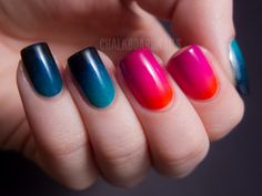 Chalkboard Nails: Urban Decay Showboat Nail Kit - Ombre/Gradient Crazy