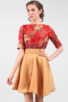 Teabag Flare Batik Dress