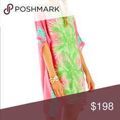 ISO Tiki Pink Palm Lilly Pulitzer Caftan Not for sale! I'm looking to purchase this at less than retail.....comment below AND check out my closet! Follow Me! Lilly Pulitzer Dresses Mini