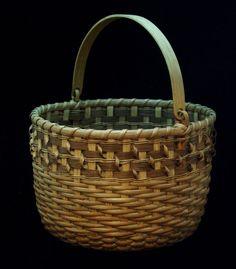 cinnamon twist swing-handled basket