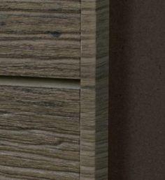 Textured Slatwall Paint Matched Edge Trim