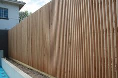 Radial Sawn Batten - Top Class Fencing and Gates Sawn Timber, Timber Battens, Timber Screens, Timber Fencing, Rooftop Terrace Design, Board And Batten, Backyard Fences, Wooden Fence, Fence Design