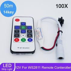 ==> [Free Shipping] Buy Best 100pcslot LED RGB Controller Wireless RF 14key Digital for LED Strip WS2811 WS2812 WS2812B Controller DC 5V7-12V24V Online with LOWEST Price   32583276474