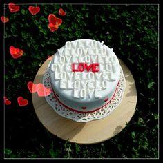 Love cake red Valentine's day cake