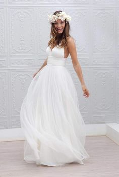 Simple And Beautiful Beach Wedding Dresses 2017 Weeding Dress Gowns