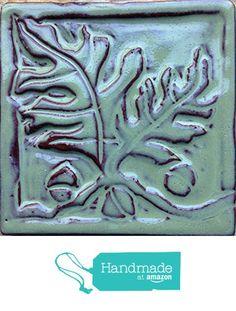 Oak Leaf and Acorns Tile from Littoral Drift http://www.amazon.com/dp/B01D906DF8/ref=hnd_sw_r_pi_dp_RTD8wb1YWFXYE #handmadeatamazon