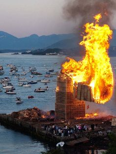 In 2010, they set a world record for the tallest bonfire at 132.71 ft.