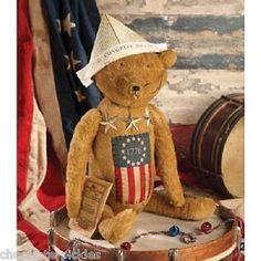 Americana TEDDY BEAR Yanky Doodle*United States Flag*Stars*Bethany Lowe*NWT