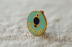 berliet pin / art deco collectible badge / by BOULOTDODO on Etsy