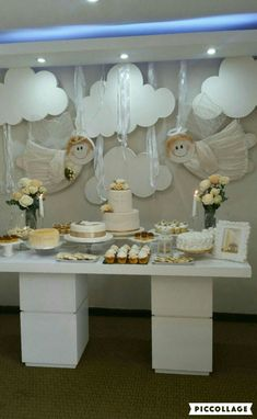 Nice Decorar Casa Bautizo that you must know, Youre in good company if you?re looking for Decorar Casa Bautizo Boy Baptism Centerpieces, Baptism Decorations, First Communion Party, Baptism Party, Angel Theme, Ideas Para Fiestas, Birthday Balloons, Holidays And Events, Christening
