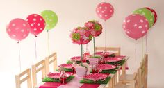 Table Setting - Pink and Green