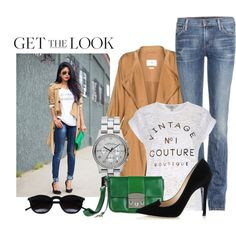 A fashion look from September 2014 featuring Lola Skye t-shirts, Citizens of Humanity jeans and Jimmy Choo pumps. Browse and shop related looks.