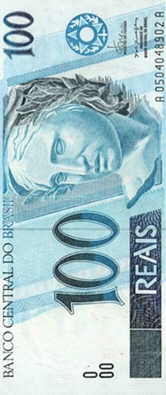 Brazilian Money - 100 Reais. We don't see this bill very often. Lol