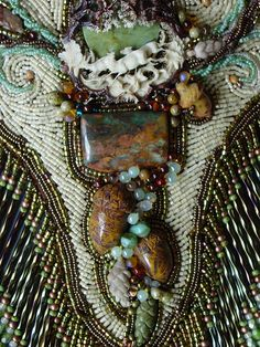 Heidi Kummli -- detail of necklace focal;  It's the details that interest me most.