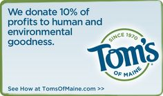 Official Tom's of Maine Online Store: Check out their great products!