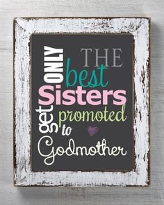 The Best Sisters Get Promoted To Aunt Personalized Picture Frame