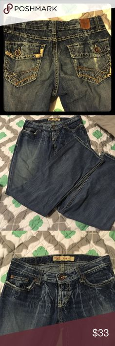 Buckle denim star boot cut jeans Bke denim star boot. Great condition. Dont fit me. Size 27* 31 1/2 Buckle Jeans Boot Cut