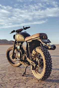 It doesn't take much to turn a Triumph Scrambler into a modern-day desert sled. Read how Jason Panther at British Customs built a bike for the Mojave Desert.