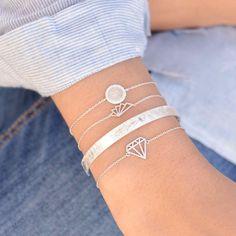 Eventail Origami Silver Bracelet - Majolie