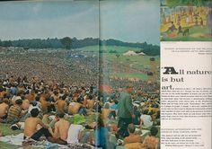 Vogue 1969 Woodstock meets Art