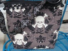 Skull Bag Purse OOAK With silver Studs sale by BitchinBagsbyBenita, $45.00 also free us shipping today only