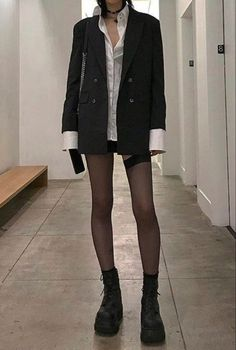 """""""still waiting for my legs to look like this"""" Aesthetic Fashion, Look Fashion, Aesthetic Clothes, Korean Fashion, Quirky Fashion, Japanese Fashion, 90s Fashion, Looks Cool, Looks Style"""