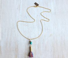 colorful tassel necklace <3